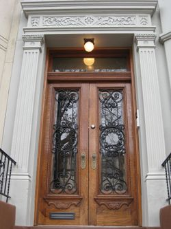 finished exterior at this old house new york brownstone project