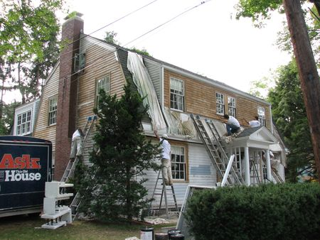 stripping paint, vinyl siding, siding removal, exterior paint, newton centre, this old house, stripped paint, clapboards