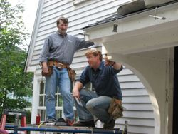 removing vinyl siding, newton centre, Norm and Kevin this old house