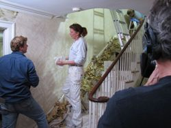 wallpaper, paint, The Four Walls, Newton, Newton Centre. This Old House, Robin Abber, Anne Brady, removing wallpaper