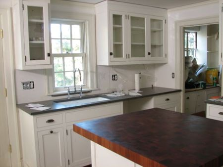 counters, countertops, caesarstone, backsplash, crown point, this old house, kitchen remodel, working kitchen, kitchen, cabinets, cabinetry