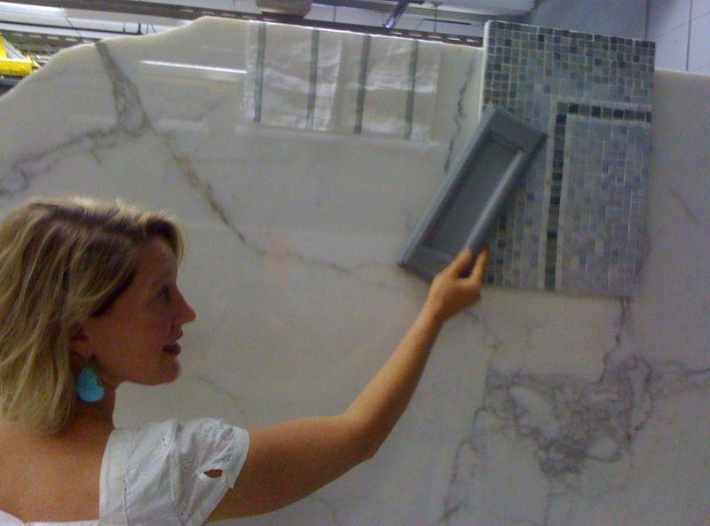 Master bath marble