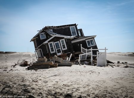 Jersey Shore destroyed house